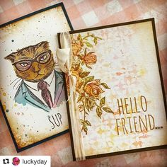 """110 Likes, 5 Comments - Richele Christensen (@caliartgirl) on Instagram: """"Look at these beautiful cards Paula made @luckyday! . #Repost @luckyday with @repostapp ・・・ I…"""""""