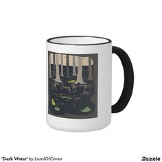 'Dark Water' Ringer Coffee Mug