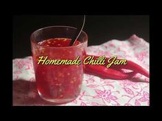 Fiery chilli jam or chilli jelly which makes a great side for fried food or with whatever you like. Super delicious and super yummy. Chilli Jelly Recipe, Chia Jam Recipe, Chilli Jam, Sweet Chilli, Jelly Recipes, Jam Recipes, Dessert Recipes, Cooking Recipes, Orange Jam