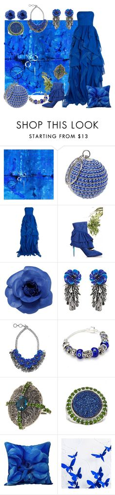 """Blue Angel"" by yournightnurse ❤ liked on Polyvore featuring Reem Acra, Chanel, Forest of Chintz and Stephen Dweck"