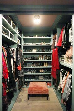 Blue Walk-In Closet, Jenny Wolf's Cobble Hill Townhouse Dressing Room Closet, Closet Bedroom, Dressing Rooms, Master Closet, Walk In Closet Design, Closet Designs, Walking Closet, Walk In Wardrobe, Dream Closets