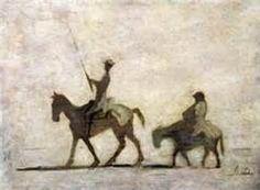 Don Quixote and Sancho Panza.