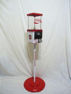 vintage Komet COCA COLA gumball machine + stand