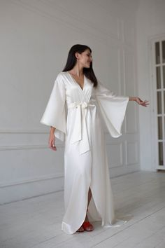 lounge-wear Womens Cashmere Silk Horses Edition Dressing Gown Valentines gift Bridesmaid Robes Luxury Reversible Bath Robe Cruise