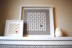 Wedding Guest Book Alternative - Personalized 3D Wedding Hearts - MEDIUM guest book (includes frame, instruction card and two pens). $185.00, via Etsy.