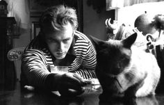 James Dean with his cat