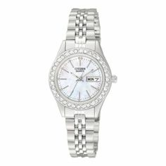 Citizen® Womens Stainless Steel & Mother-of-Pearl Watch - JCPenney