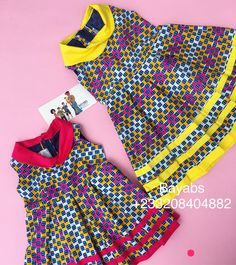 Baby African Clothes, African Dresses For Kids, African Children, Dresses Kids Girl, Kids Outfits, African Fashion Ankara, African Print Fashion, African Print Shirt, Kids Dress Wear
