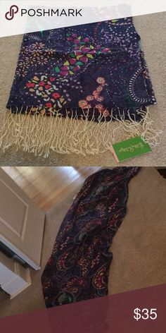Long Lilly Pulitzer scarf with fringes Great with blue jeans and a Lilly sweater!  Nice gift idea. Lilly Pulitzer Accessories Scarves & Wraps
