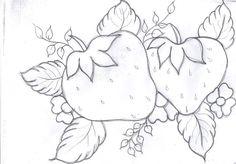 Riscos Frutas para Pintura em Tecido ou Telas