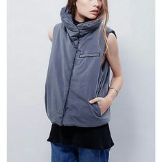 Free people puffer vest NWT Perfect layering piece for cooler weather. Snap . front closures. Side pockets. Broad neck can be worn up or down.  Color is shark Medium NWT $ 168  All prices are negotioable Bundle and save the most! . Free People Jackets & Coats Vests