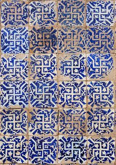 Detail of ceramic tiles in Abakh Hoja Tomb, burial place of Muhatum Ajam, Kashgar, Xinjiang, China