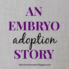 Sara and Ryan share their experience with embryo adoption. Frozen Embryo Transfer, Sara Foster, Causes Of Infertility, Adoption Stories, Fertility Diet, Surrogacy, After Pregnancy, Foster Care