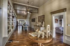 Living Vintage home tour - love how they reuse old architectural salvage: love the old windows