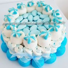Cake Confetti Azzurri Chocolates, Candy Kabobs, Candy Party, 8th Birthday, Ale, Sweets, Baby Shower, Desserts, Food