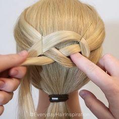 Easy Hairstyles For Long Hair, Braids For Long Hair, Half Up Hairstyles, Hair Up Styles, Hair Creations, Hair Videos, Hair Looks, Hair Makeup, Hair Tutorials