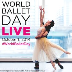 Save the Date: #WorldBalletDay, October 1, 2014.  A full day of live streaming from 5 of the world's top #ballet companies. Visit http://national.ballet.ca/worldballetday/ for more details.
