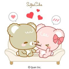 Cute Love Pictures, Cute Love Gif, Cute Images, Cubs Wallpaper, Chibi Cat, Kawaii, Cute Characters, Emoticon, Cute Stickers