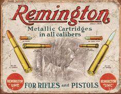 Antique Metal Signs   ... -primitive-wall-decor-Remington-Metallic-Cartridges-Vintage-Tin-Sign