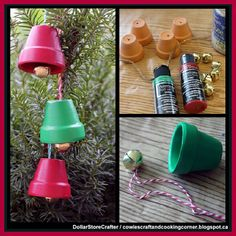 Dollar Store Crafter: Make Terra Cotta Jingle Bells Using Dollar Tree Items Christmas Crafts For Adults, Christmas Tree Crafts, Christmas Bells, Simple Christmas, Christmas Ornaments, Beach Ornaments, Clay Pot Crafts, Diy Home Crafts, Kids Crafts