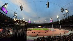 The Olympic Stadium during the Men's 5000m - T54 heats on Day 2 at the London 2012 Paralympic Games.