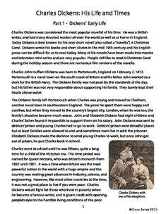 A Christmas Carol Charles Dickens Biography Informational