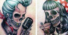 10 Colorful Rockibilly Tattoos l Tattoo Artist Magazine Blog