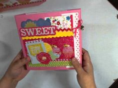 ▶ Little Miss Cupcake Handbag and Scrapbook - YouTube