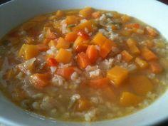 Sopa de otoño (de Arroz y Calabaza)