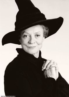 "Maggie Smith in character as ""Minerva McGonagall"" from the ""Harry Potter"" film series, 2001-2011"
