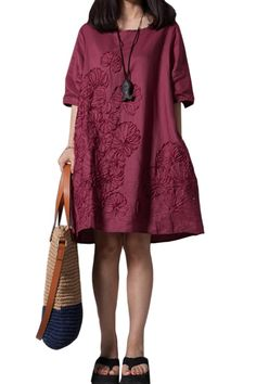 Amazon.co.jp: (オッサエプ)OASAP カジュアルマチュアルーズ無地リネンワンピース: 服&ファッション小物通販