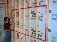 Lots of Home Ideas / Tutorial - Shown: Basement to Home Theater Preparation - http://www.diynetwork.com