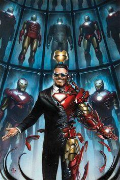 Tony Stark: Iron Man variant cover by Adi Granov * Marvel Comics, Marvel Avengers, Marvel Fanart, Marvel Heroes, Marvel Characters, Tony Stark, Logo Super Heros, Iron Men 1, Iron Man Art