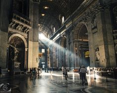 Divine Light by Dominique Arsenault on 500px | St-Peter's Basilica | Vatican City | Rome | Italy | Architecture | Interior | Light