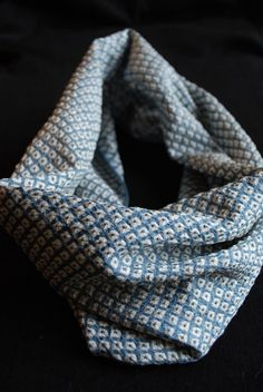 Vintage Japanese Kimono Fabric Infinity Scarf  by globaltexture