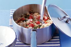 The family will love this cheesy risotto.