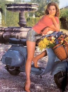 Angie Dickinson for Vespa