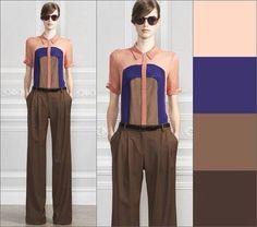 Coral - chocolate Colour Combinations Fashion, Fashion Colours, Colorful Fashion, Color Combos, Urban Fashion, Teen Fashion, Fashion Beauty, Fashion Outfits, Color Me Beautiful