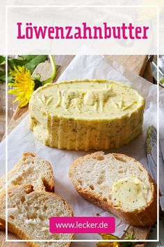 Dandelion Butter Recipe DELICIOUS - The ingredients for this you just pick from the meadow! A great one too from the kitc - Veggie Recipes, Beef Recipes, Baking Recipes, Tasty, Yummy Food, Homemade Cheese, Comfort Food, Butter Recipe, Bread Baking