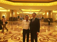 Chairman and Founder of Mohamed Dekkak with Managing Director Rhalem Mohamed of SuperFoods International Tradings at Emirates Palace Abu Dhabi