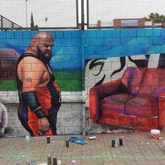 Bad Indigestion! One day Mural in Drassanes #wallspot #streetartnews #3dpainting #3d #3dmural #sebastienwaknine #barcelona #murals #lowbrowart #painting #surrealism #graffitiart #graffiti #streetphotography #sprayart #urbanwalls #wallporn #juxtapoz#street #streetphotography #spraypaint #urban #wall #graffitiporn #photooftheday #stencil #barcelona #streetartbarcelona #realismo #realism #mtncans #mtncolors