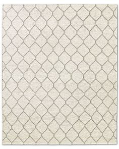 Honeycomb Flatweave Rug - Ivory/Oatmeal