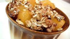 Easy Peach Crisp with Granola