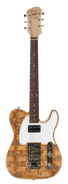 Wallace Detroit Guitars.  Up-cycled wood from abandoned buildings in Detroit.  Wood is usually over 100 yrs old.
