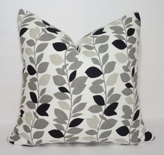Waverly Leaf Vine Garland Print Pillow Cover Black & by HomeLiving