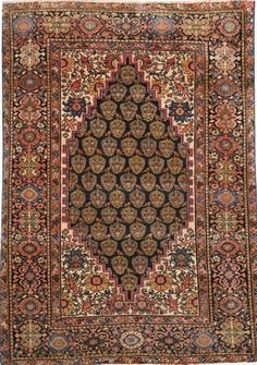 Antique Sarouk Rug X - Fred Moheban Gallery