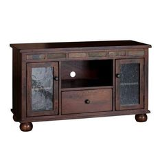 Dark Oak Oxford TV Console with Game Drawer