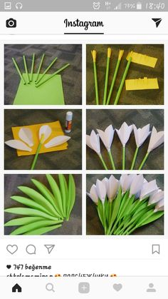 I also made a picture tutorial just so you can get a closer look on how i put template 17 together paperflowers paperflower handmade diy art Kids Crafts, Spring Crafts For Kids, Easter Crafts, Diy And Crafts, Paper Flowers Craft, Felt Flowers, Flower Crafts, Diy Flowers, Easter Flowers