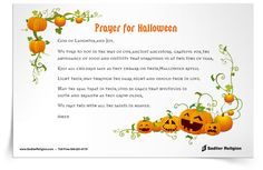 A Halloween Prayer for Families