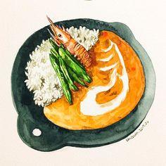 """627 Likes, 3 Comments - watercolor food painting/맛있는그림 (@dalgura) on Instagram: """"과일타르트. . 회사일이 한가해져 이리 그림을 그릴수있으니 참으로 좋구나~속도없이... . フルーツタルト。 #タルト#타르트#tart…"""""""